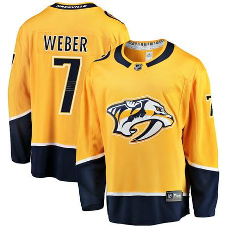 Yannick Weber Nashville Predators Fanatics Branded Youth Breakaway Player Jersey - (Nashville Predators Best Player)