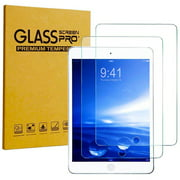 iPad 9.7 2018 (6th Generation) Screen Protector by KIQ [2 Pack] Premium Tempered Glass Shield [Easy to Install, Self-Adhere, Anti-Scratch] For Apple iPad 2018 6th Gen