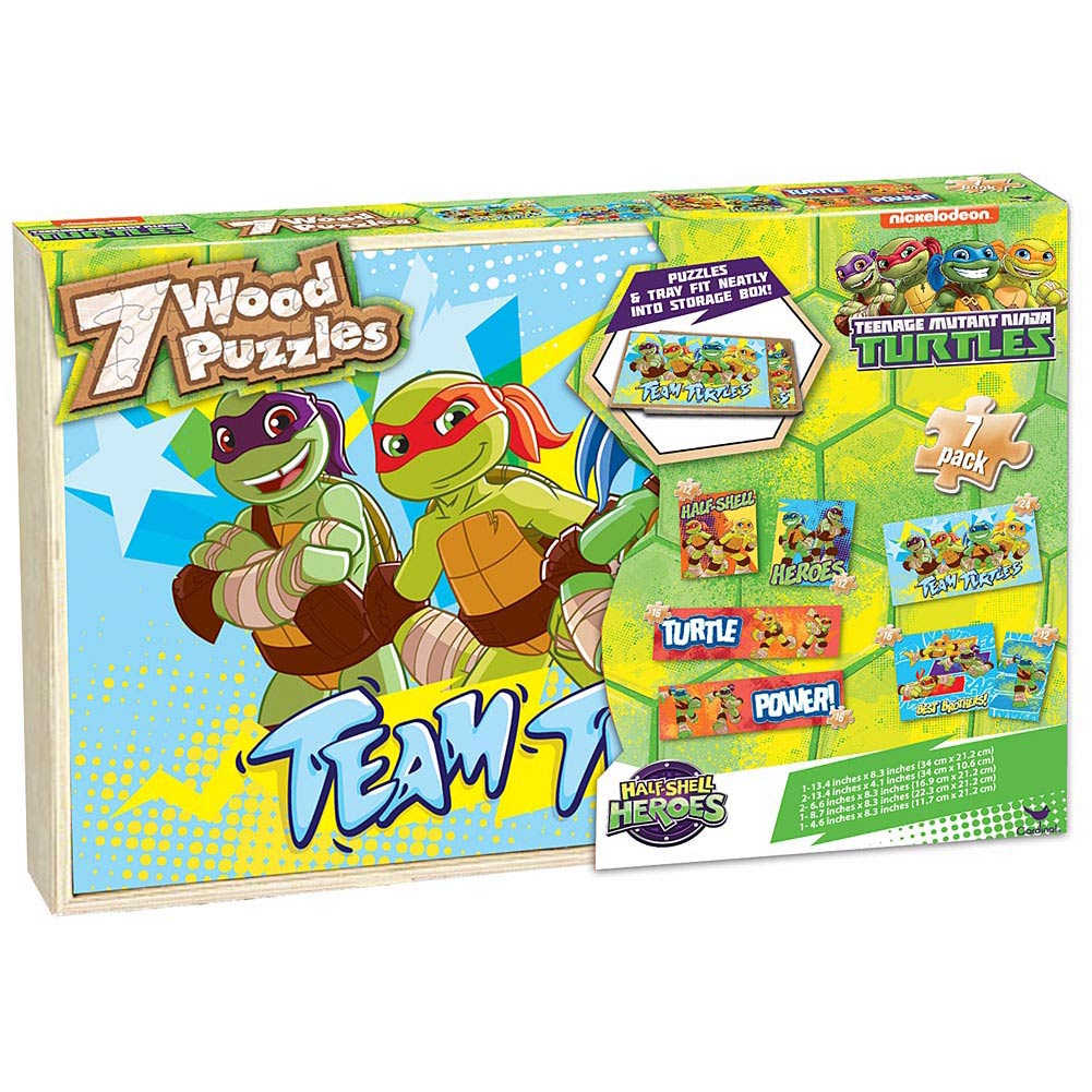Half Shell Heroes Wooden Puzzles 7-Pack,  Cartoons | Comics by Cardinal