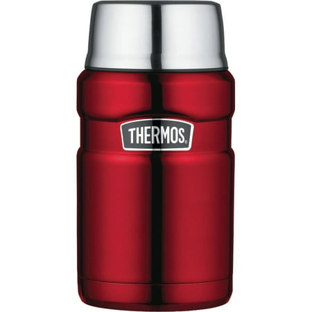 Thermos SK3020CRTRI4 Stainless Steel Vacuum-Insulated Food Jar, 24 oz, Cranberry Red ()
