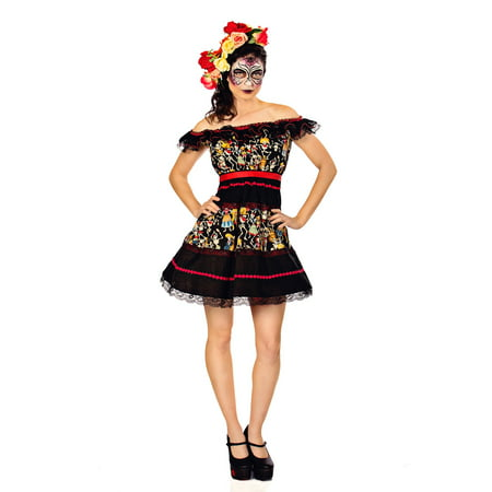 Fiesta of the Dead Party Dress - Fiesta Loca De Halloween