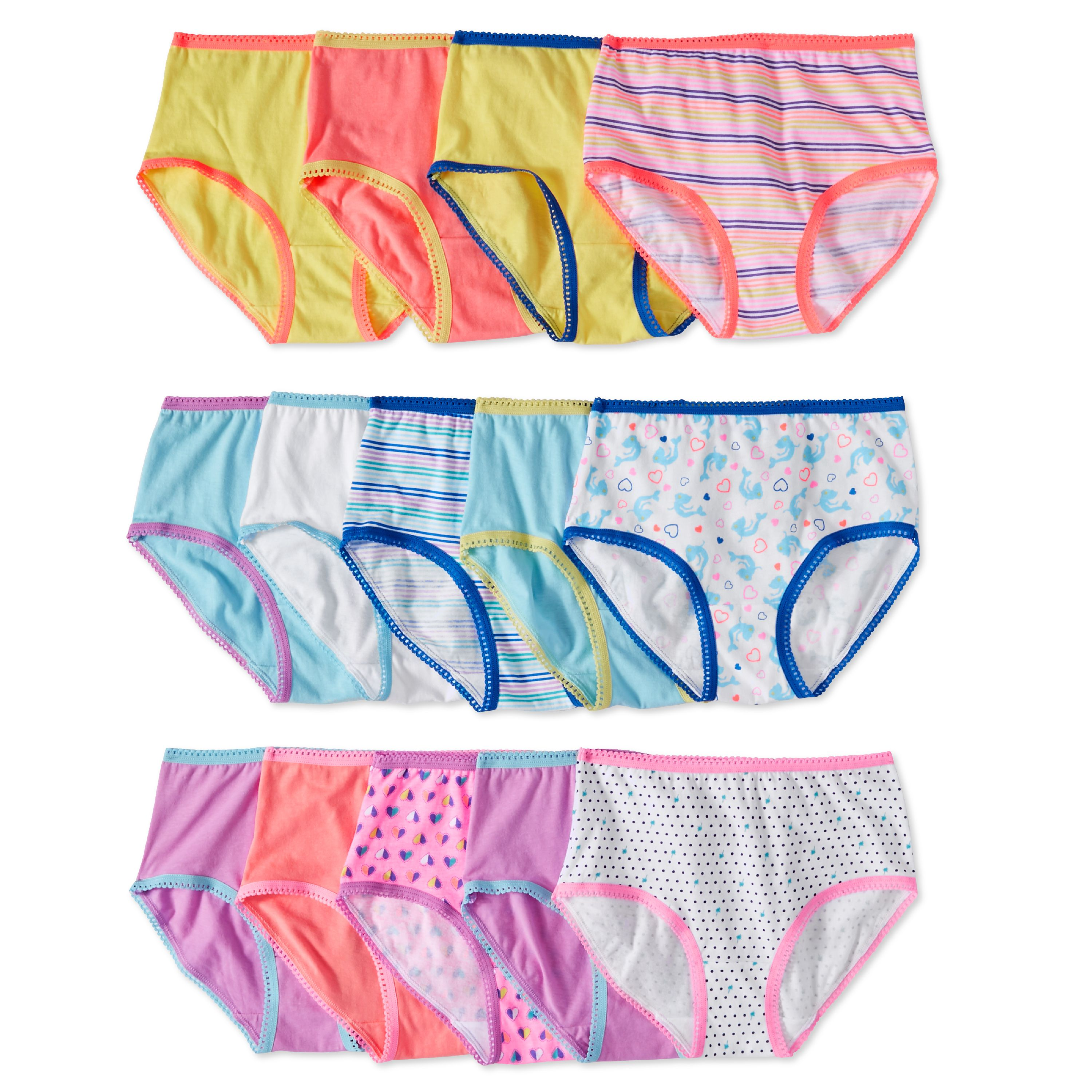 2f016166e796 Wonder Nation - Wonder Nation Girls' 100% Cotton Brief Panty, 14-Pack -  Walmart.com