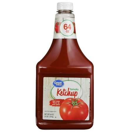 (2 Pack) Great Value Tomato Ketchup, 64 oz