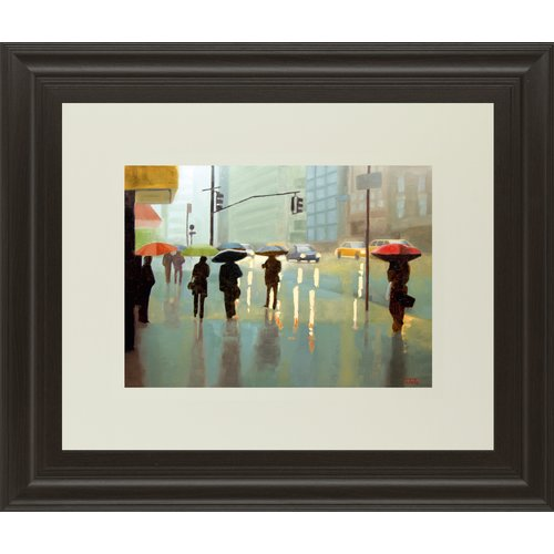 Classy Art Wholesalers New York Reality by Tate Hamilton Framed Graphic Art by Classy Art Wholesalers
