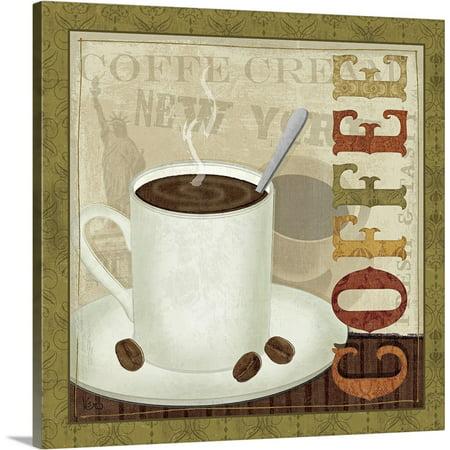 Great BIG Canvas | Veronique Charron Solid-Faced Canvas Print entitled Coffee Cup III Bag Canvas Coffee