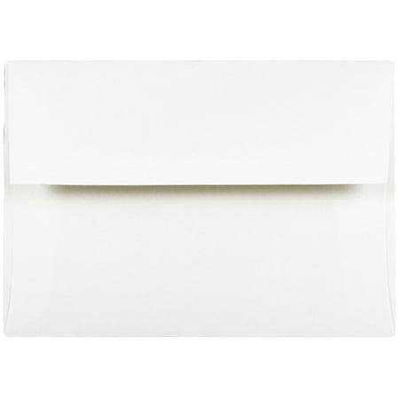 JAM Paper A7 Strathmore Envelope, 5 1/4 x 7 1/4, Invitation Envelope, Bright White Wove,
