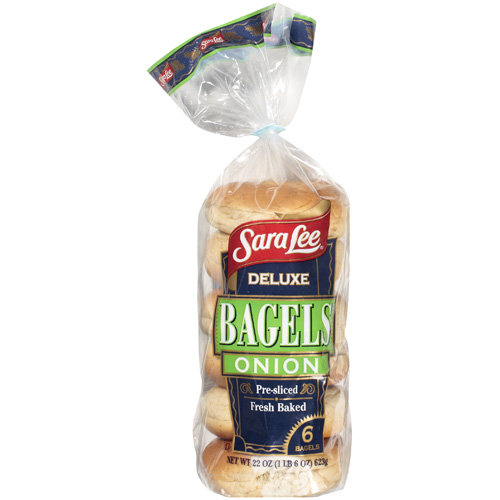 Sara Lee Deluxe Onion Bagels, 22 oz