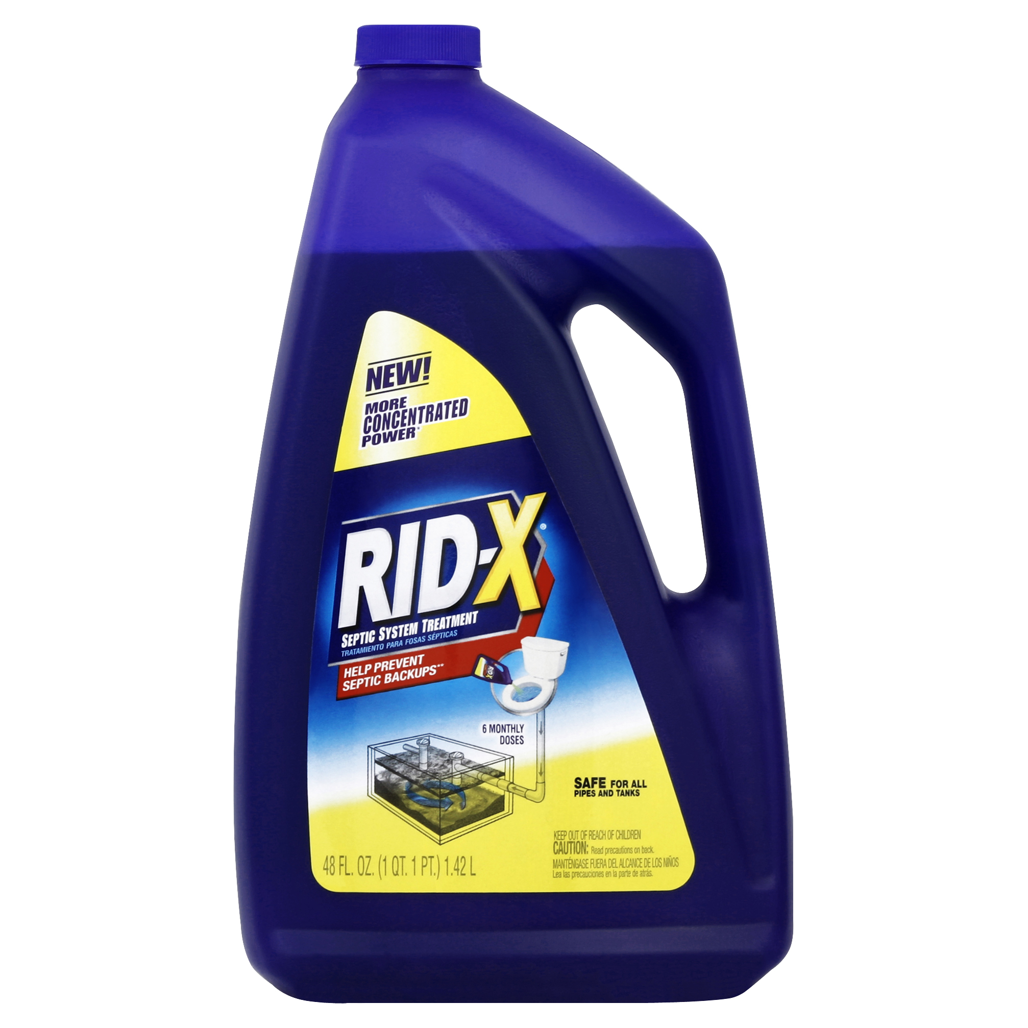 Rid-X Septic Tank System Treatment, 6-Dose Liquid, 48 Ounce
