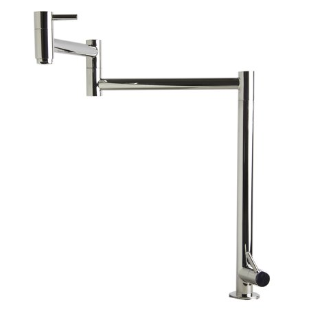 Nickel Polished Filler - ALFI AB5018-PSS Polished Stainless Steel Retractable Pot Filler Faucet