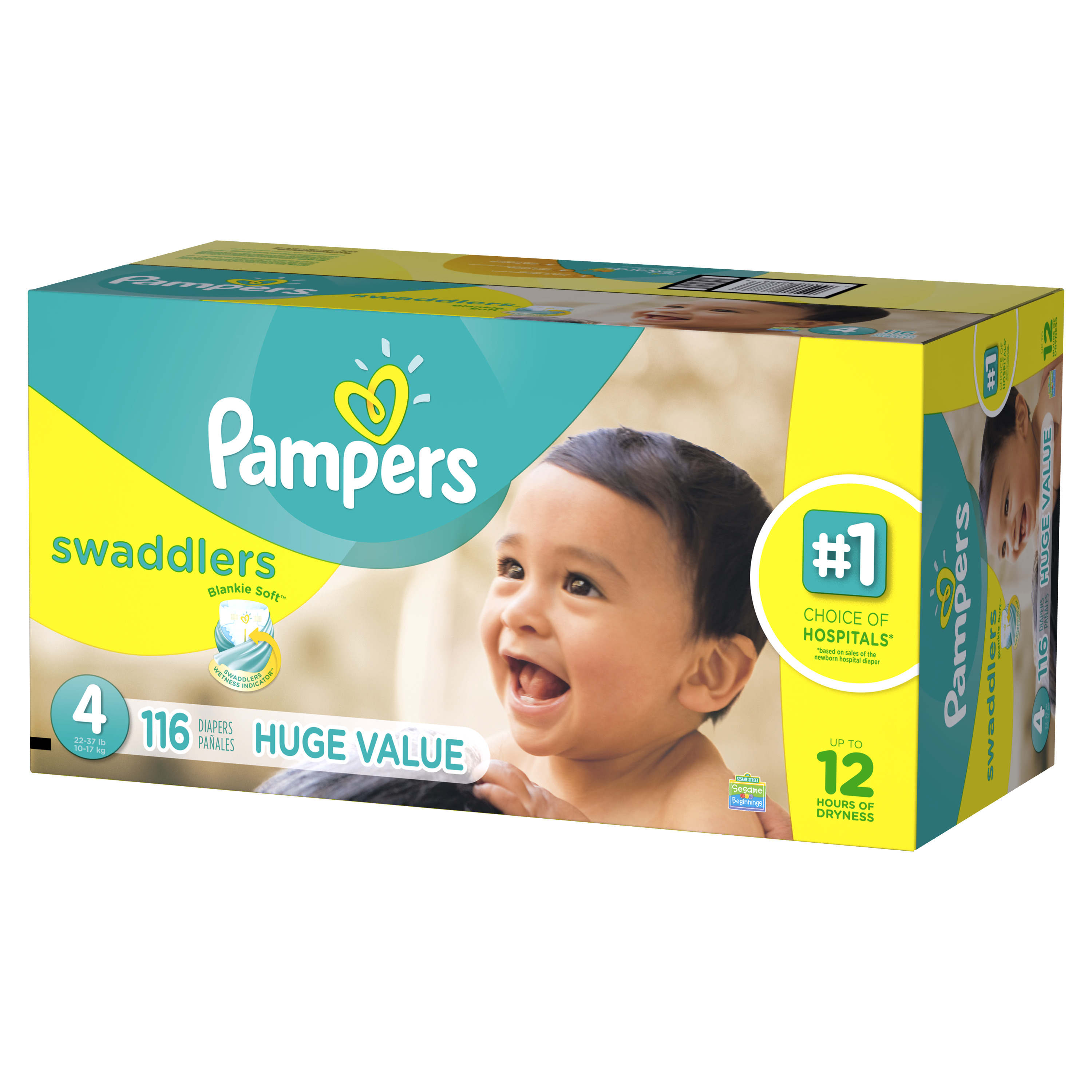 Pampers Swaddlers Diapers Size 4 116 count