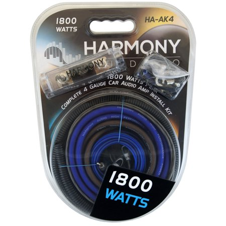 Harmony Audio HA-AK4 Car Stereo 4 Gauge 1800W Amp Amplifier Install Kit -