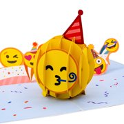 Paper Love Partying Emoji Pop Up Birthday Card, 3D Popup Greeting Cards For Bday, Celebration, Party