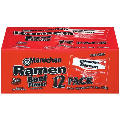 Maruchan Instant Lunch Beef Ramen Noodle Baby Pack, 12 ct