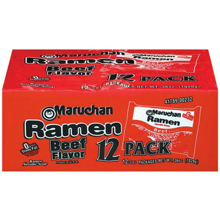 Instant Cup Noodles ((36 Packs) Maruchan Instant Lunch Beef Ramen Noodle Baby Pack, 3)