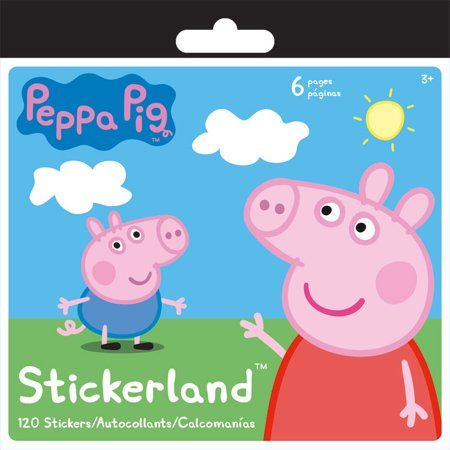 Peppa Pig Mini Sticker Pad (120 Stickers) - Party - Party Supplies Miami