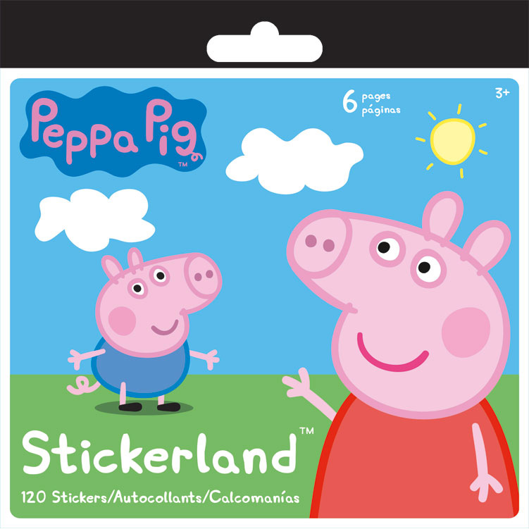 Peppa Pig Mini Sticker Pad (120 Stickers) - Party Supplies