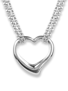 5fa3c25a7 Product Image Stainless Steel Hearts Necklace with Toggle Clasp