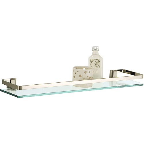 Neu Home Glass Shelf with Nickel Rail