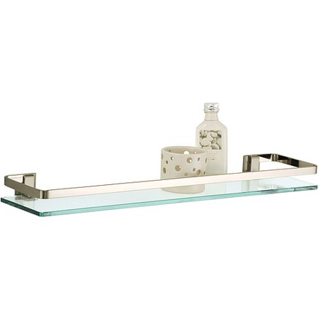 Neu Home Glass Shelf with Nickel Rail
