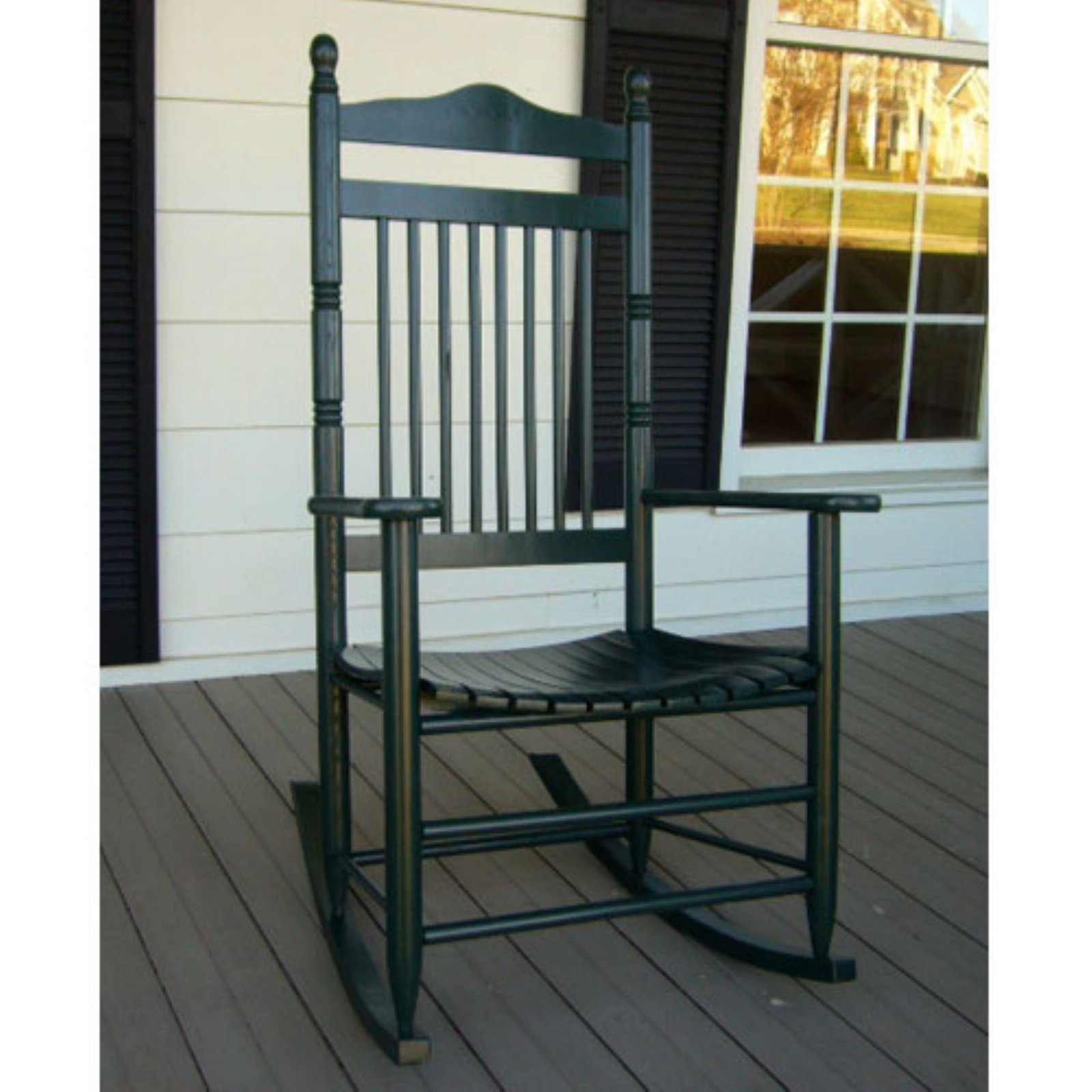 Dixie Seating Calabash Indoor/Outdoor Spindle Ready-To-Assemble Rocking Chair