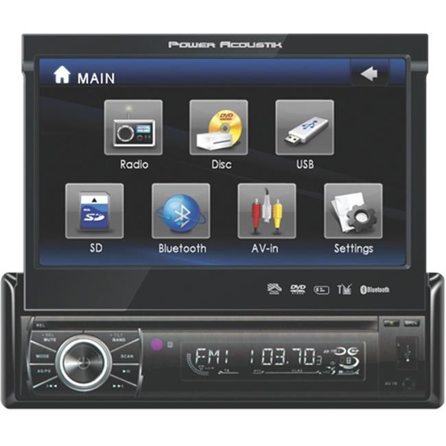 POWER PTID8920B 7 in. Touch Screen Bluetooth USB SD Car Video Player