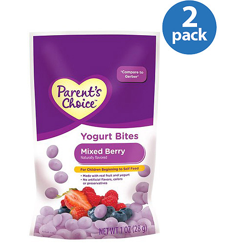Parent's Choice Mixed Berry Yogurt Bites, 1 oz (Pack of 2)
