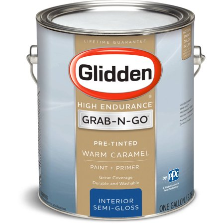Glidden High Endurance Grab N Go Interior Paint Semi Gloss Finish Warm Caramel 1 Gallon
