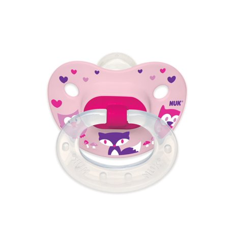 (2 Pack) NUK Orthodontic Pacifier, 0-6 Months - 2 Counts