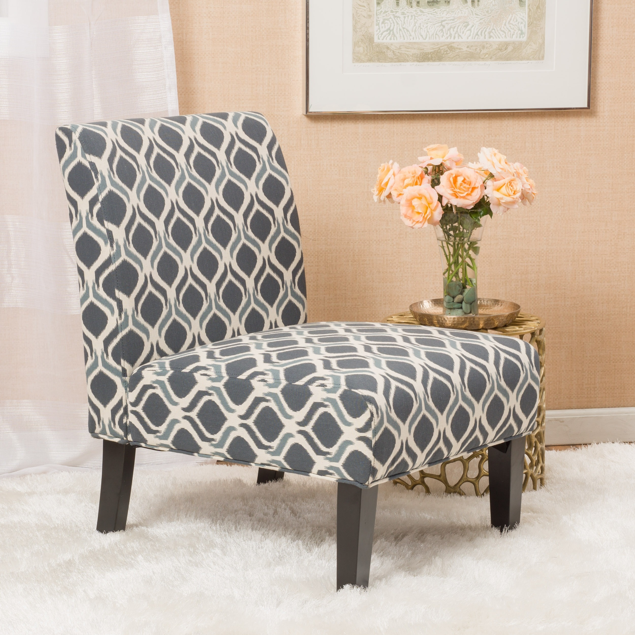 Christopher Knight Home Saloon Fabric Print Accent Chair By