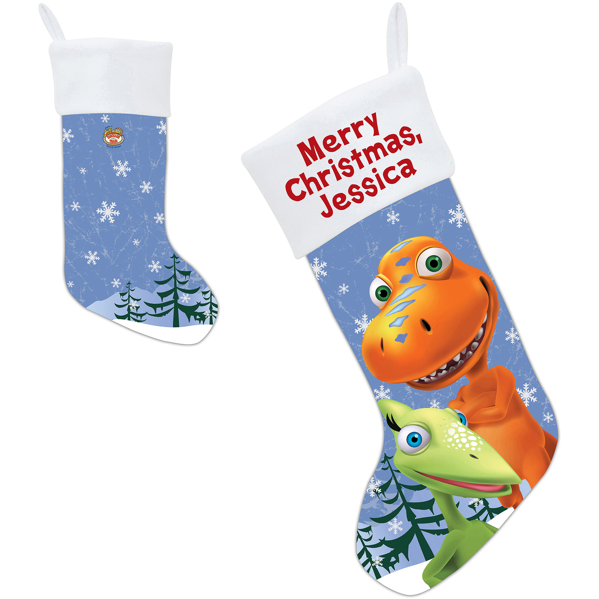 Personalized Dinosaur Train Winter Wonderland Christmas Stocking