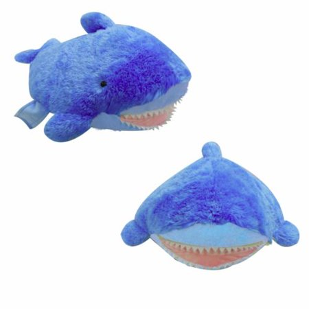 PLUSH & PLUSH® BRAND LARGE BLUE SHARK PET PILLOW, 18