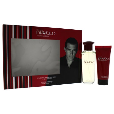 Diavolo by Antonio Banderas for Men - 2 Pc Gift Set 3.4oz EDT Spray, 3.4oz After Shave Balm ()