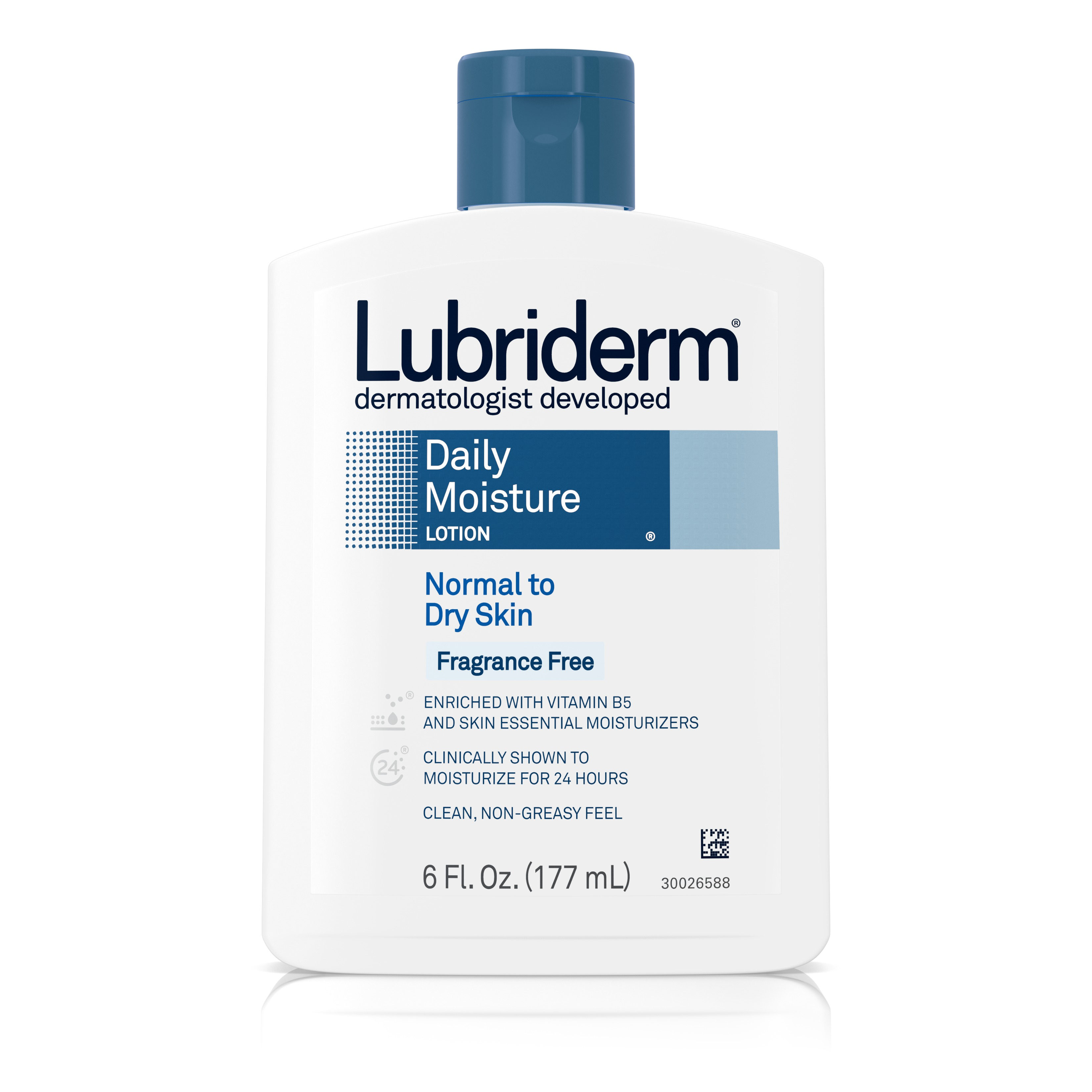 Lubriderm Daily Moisture Body Lotion, Fragrance-Free, 6 fl. oz