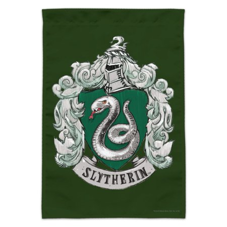 Harry Potter Slytherin Painted Crest Garden Yard Flag (Slytherin Flag)