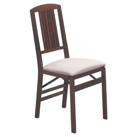 Hardwood Simple Mission Folding Chair Light Cherry Wood