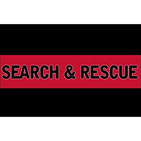 Thin Red Line SEARCH and RESCUE Flag Sticker Decal (decal service) Size: 3 x 5 inch
