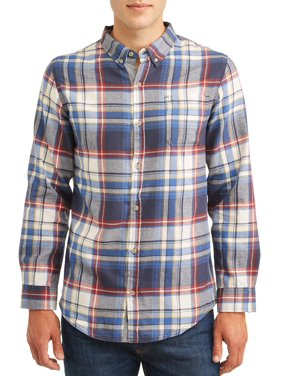 Men's Brushed Twill Weave Plaid