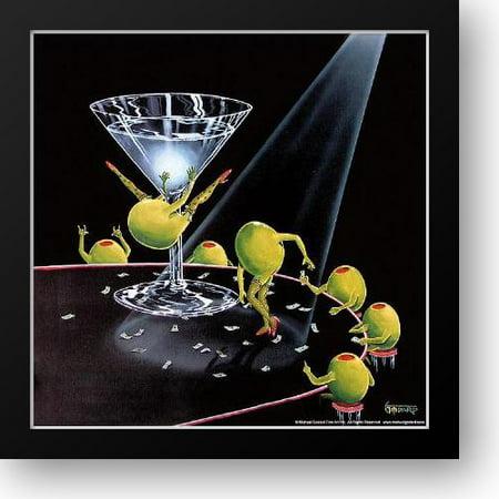 FrameToWall - Even Dirtier Martini 16x16 Framed Art Print by Godard, Michael (Martini Pop Art)