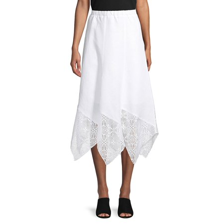 Handkerchief Lace Midi Skirt