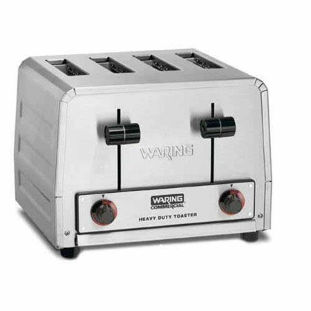 Waring Commercial WCT805B Heavy Duty Stainless Steel 208-volt Toaster with 4 Slots ()