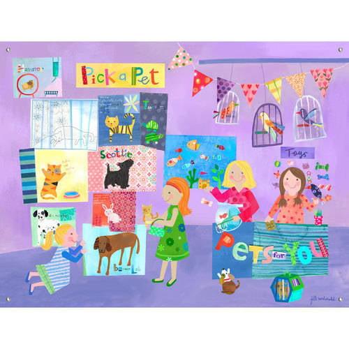 Oopsy Daisy - Pick a Pet Canvas Wall Mural 42x32, Jill McDonald