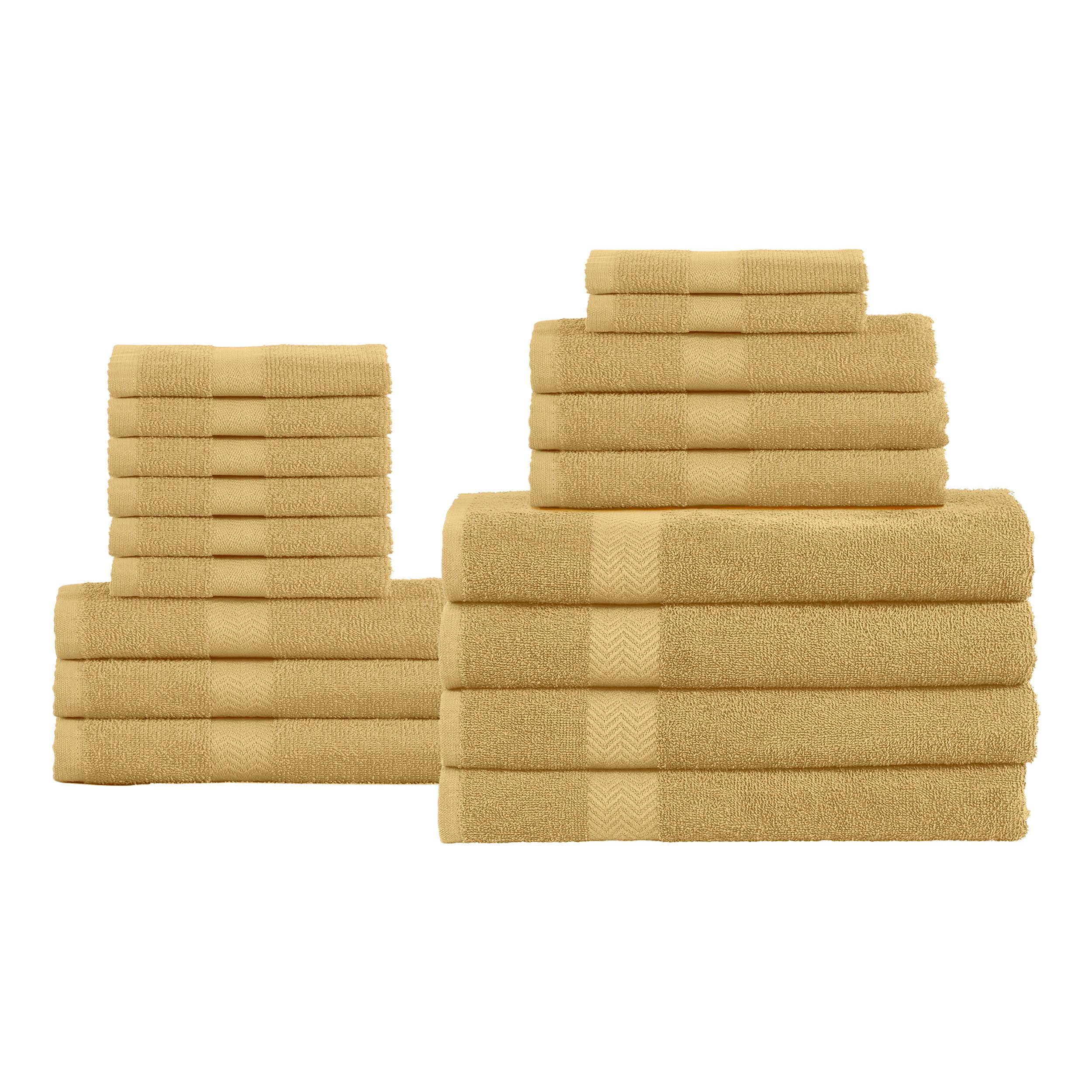 Superior 100-Percent Cotton Eco-Friendly 18-Piece Towel Set - Black