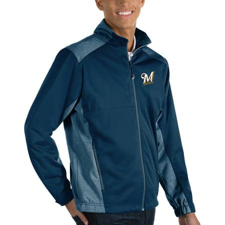 Milwaukee Brewers Antigua Revolve Full-Zip Jacket - Navy