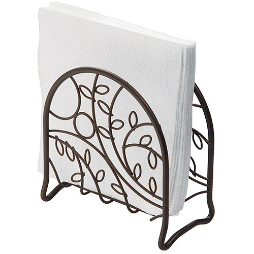 InterDesign Twigz Napkin Holder for Kitchen Countertops, Table, Bronze