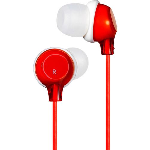 "JVC HAFX22R ""Clear"" in Ear Headphones (Red)"