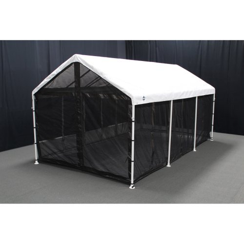 King Canopy 10 x 20 ft. Black Canopy Screen Room with Floor