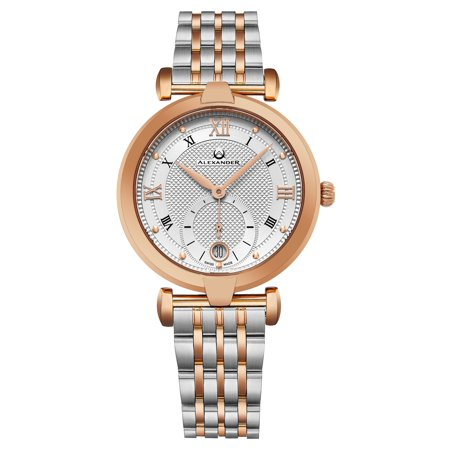 - Alexander Monarch Olympias Women's Swiss Quartz Rose Gold Two Tone SS Watch