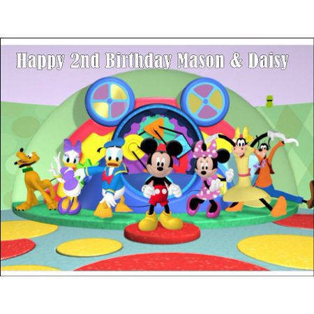 Mickey Mouse Clubhouse Edible icing Cake Topper 1/4 sheet](Micky Mouse Cake)