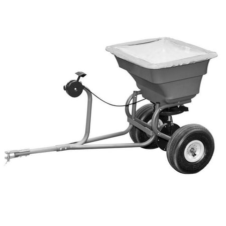 75 LB Tow Behind Spreader with 8 to 10 feet spread width