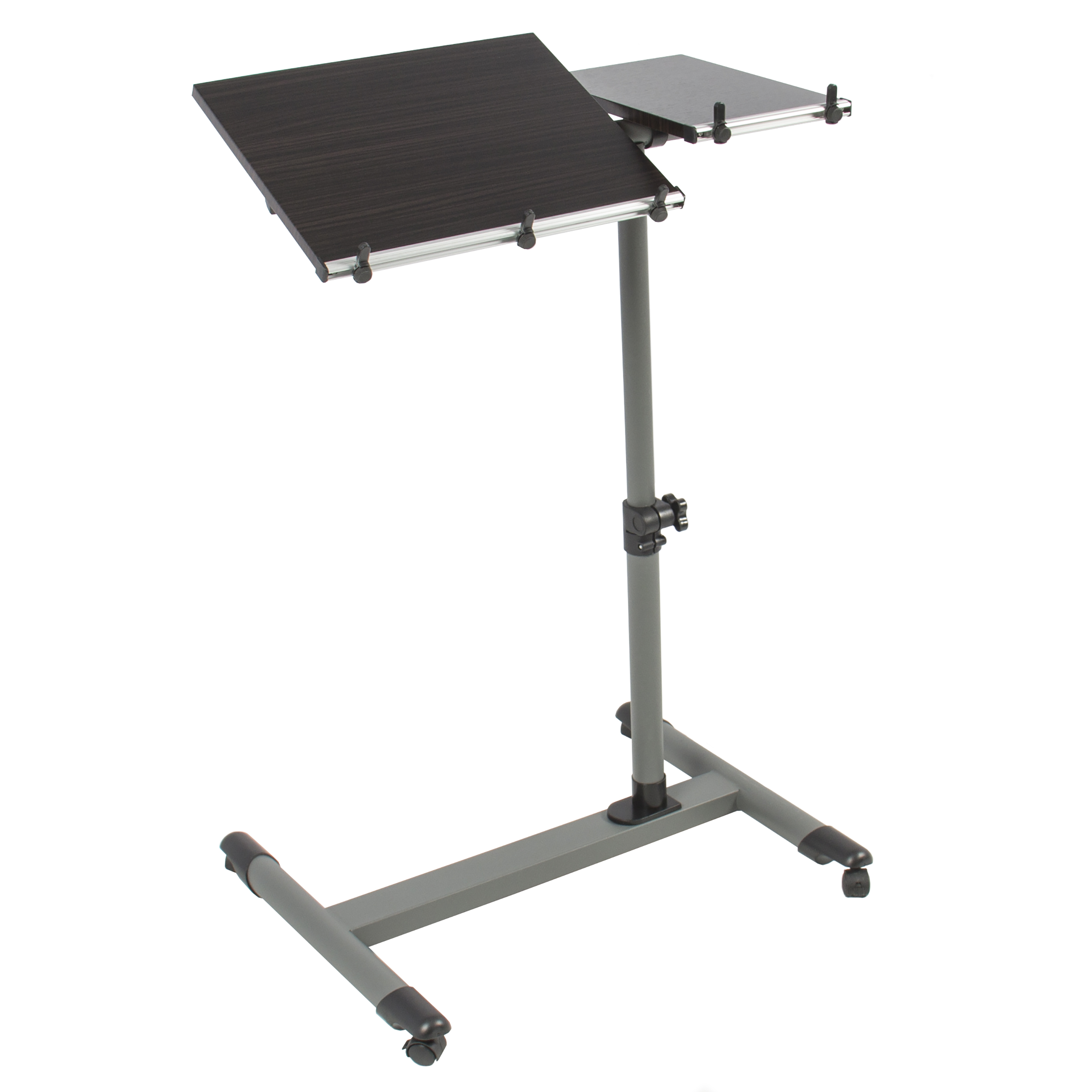 Rolling Laptop Table W Tilting Tabletop Overbed Desk TV Food Tray